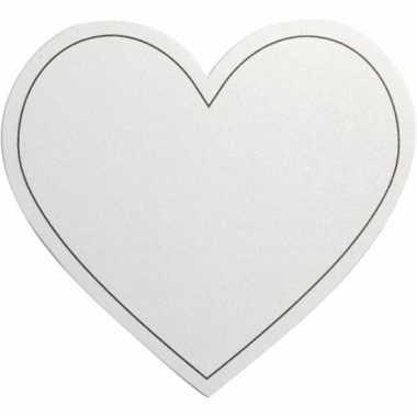 Hartvormige blanco kaarten 10x