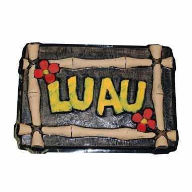 Hawaii feestje versierings bord