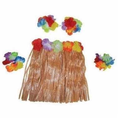 Hawaii verkleedkleding voor kinderen 4 delig