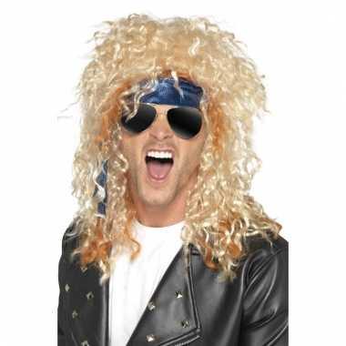 Heavy metal rocker verkleed set voor heren