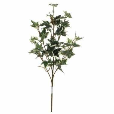 Hedera klimop kunsttak groen/geelbont 50 cm