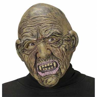 Heksen masker met kaal hoofd