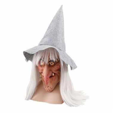 Heksen verkleedset masker met hoed