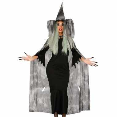 Heksenhoed met cape/mantel voor dames
