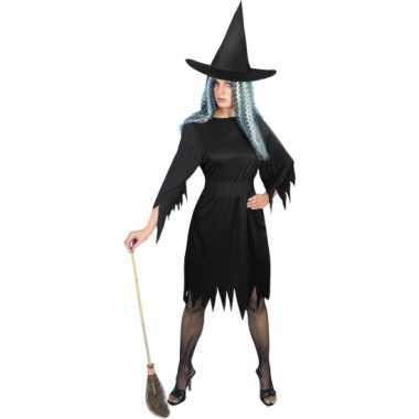 Heksenjurkje dames in het zwart