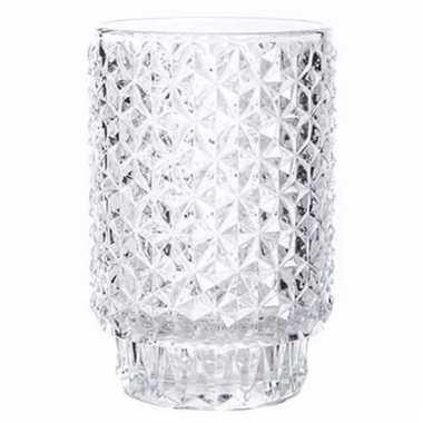 Helder glazen kaarsenhouder vienna 13 cm