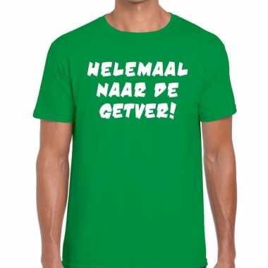 Helemaal naar de getver tekst t-shirt groen heren
