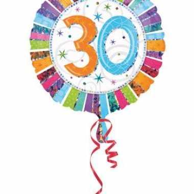 Helium ballon 30 jaar