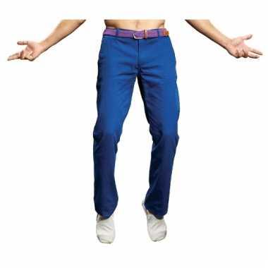 Heren chino kobalt blauw
