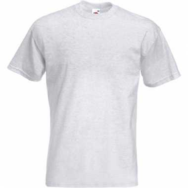 Heren fruit of the loom t-shirt lichtgrijs