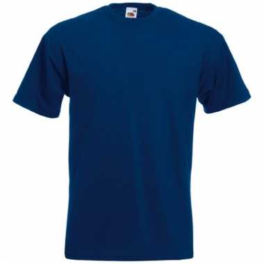 Heren fruit of the loom t-shirt navy