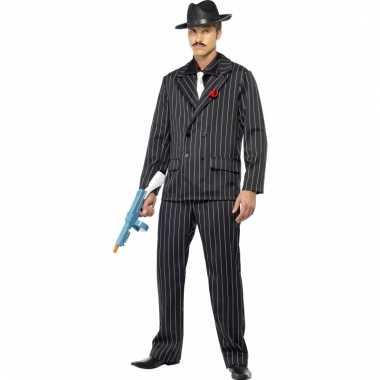 Heren gangster carnavalskleding