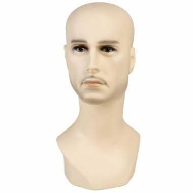Heren hoofd display 40 cm blank