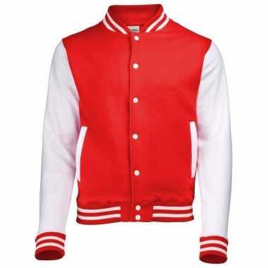 Heren jas in rood wit