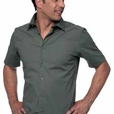 Korte Mouw Overhemd Mannen.Heren Overhemd Korte Mouw Pchoofdstraat Nl