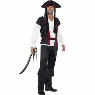 Heren piraat kapitein kostuum met pruik