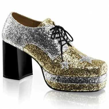 Heren plateau schoenen met glittertjes