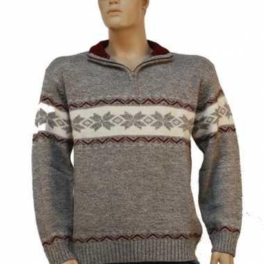 Heren pullover grijs