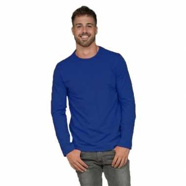 Heren shirt kobalt long sleeve stretch