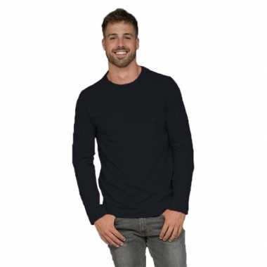 Heren shirt zwart long sleeve stretch