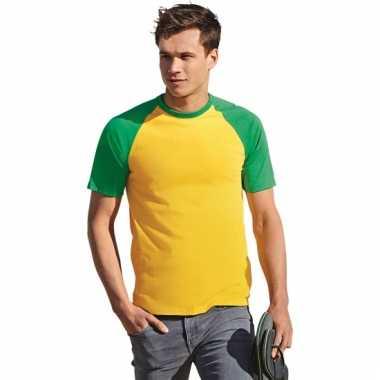 Heren t-shirt brazilie kleuren