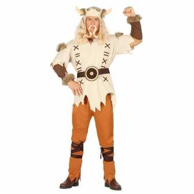 Heren vikings kostuum bruin 6 delig