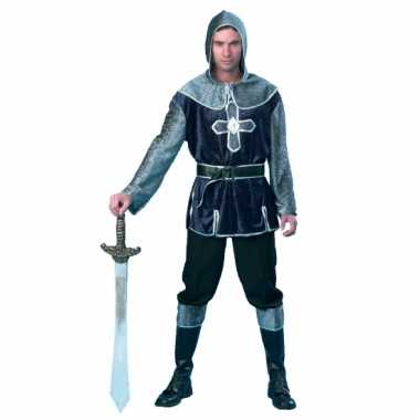 Herenpak ridder zilver/blauw
