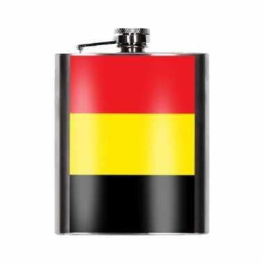 Heupflessen belgische vlag 200 ml