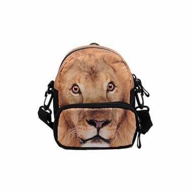 Heuptas met leeuwen bedrukking 20 cm