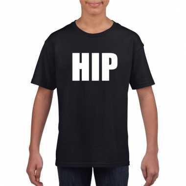 Hip tekst t-shirt zwart kinderen