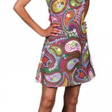 Hippie jurk carnavalskleding dames