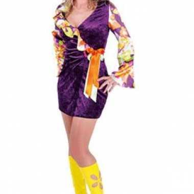 Hippie knoop jurk in het paars