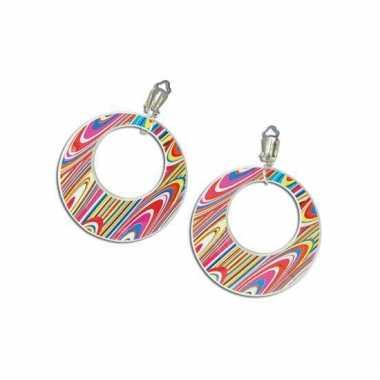 Hippie oorbellen swirl