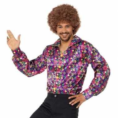 Hippie peace blouse voor heren
