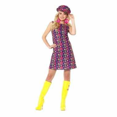 Hippie peace flower power jurkje voor dames