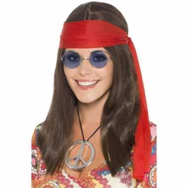 Hippie setje met pruik voor dames