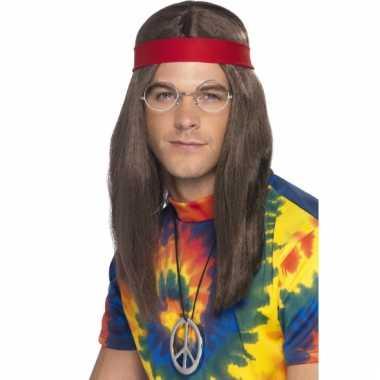 Hippie setje met pruik