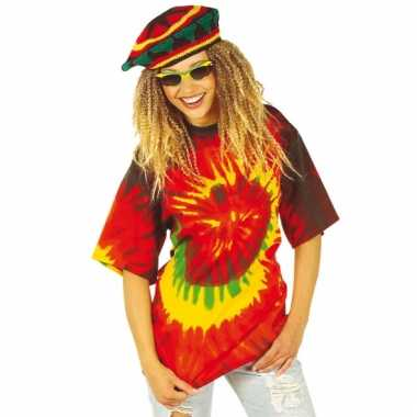 Hippie t-shirt gekleurd