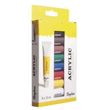 Hobby allesverf acryl 8 kleuren