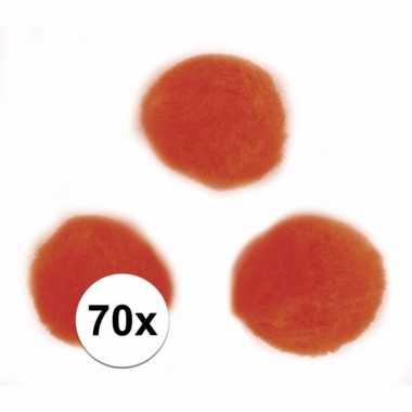 Hobby balletjes oranje 7 mm