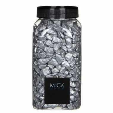 Hobby steen/kiezels zilver 1 kg