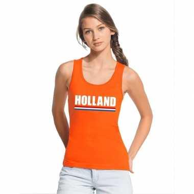Holland supporter singlet oranje dames