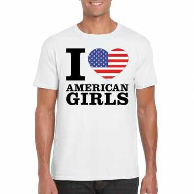I love american girls vakantie t-shirt amerika heren