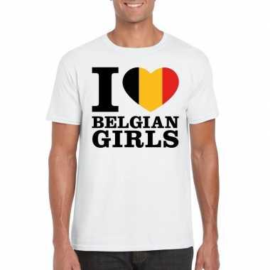 I love belgian girls vakantie t-shirt belgie heren