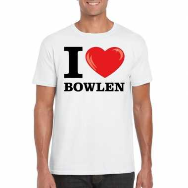 I love bowlen t-shirt wit heren