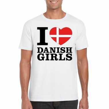 I love danish girls vakantie t-shirt denemarken heren