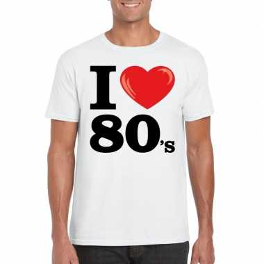 I love eighties t-shirt wit heren