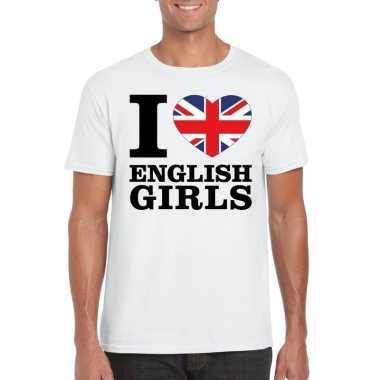 I love english girls vakantie t-shirt engeland heren