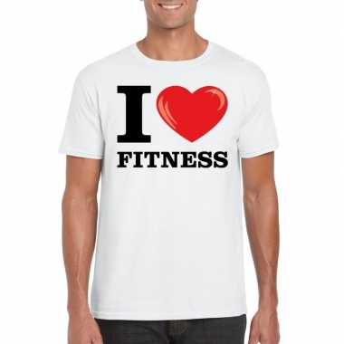 I love fitness t-shirt wit heren