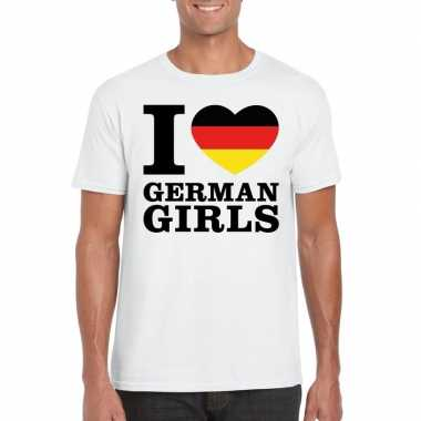 I love german girls vakantie t-shirt duitsland heren